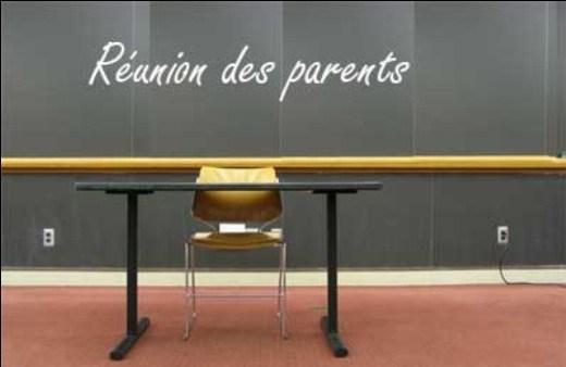 Réunion de rentrée des parents d'élèves